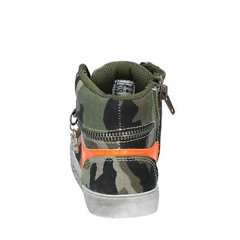 Giày cổ cao bé gái - AG230 ENRICO COVERI Shoes Girls Green Textile Suede Sneakers No Casual Casual F
