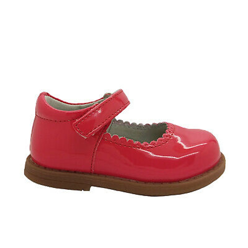 Grosby Mousey Little Girls Mary Jane Shiny Dress Shoe Adjustable Strap