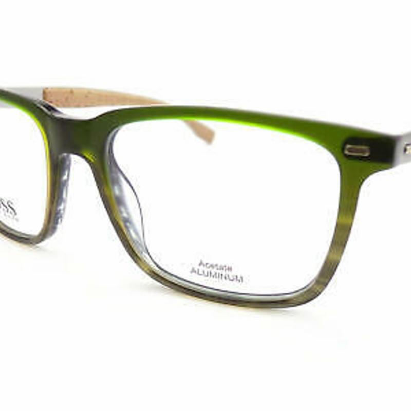 Kính đọc sách - HUGO BOSS +0.25 to +3.50 Reading Glasses Green Horn / Satin Silver 53mm 0884 OR9