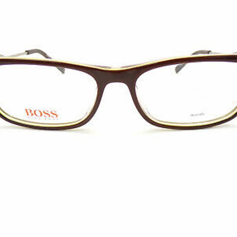Kính cận HUGO BOSS ORANGE Reading Glasses +0.25 to +3.50 Dark Brown/ Green BO 0230 LHE