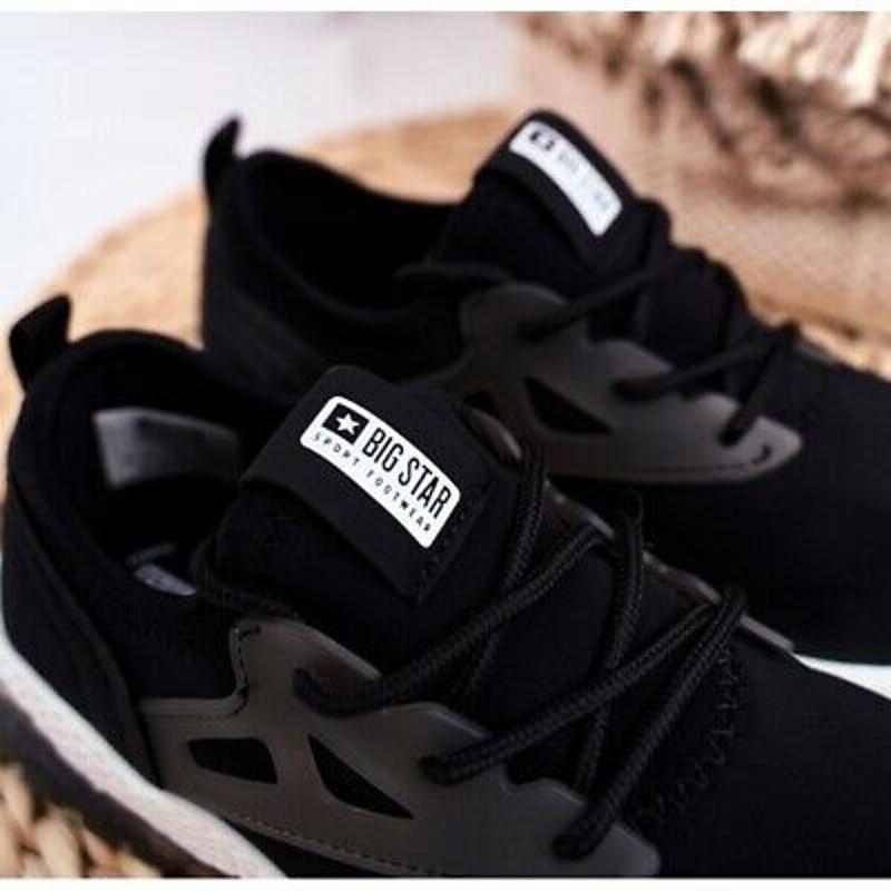 Giày thể thao bé trai Big Star sports shoes children's footwear children black fabric