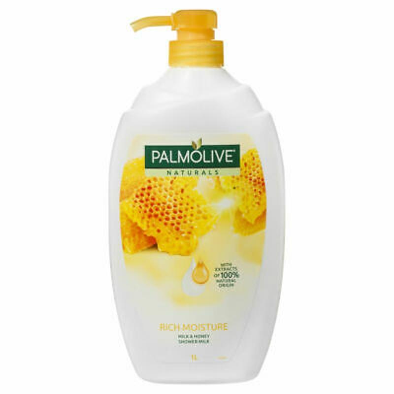 Sữa tắm PALMOLIVE NATURALS RICH MOISTURE SOAP FREE SHOWER MILK BODY WASH MILK & HONEY 1L