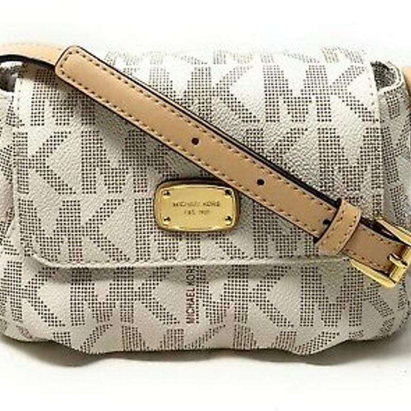 Túi đeo chéo nhỏ - Michael Kors Leather Jet Set Item Small Flap Crossbody Bag