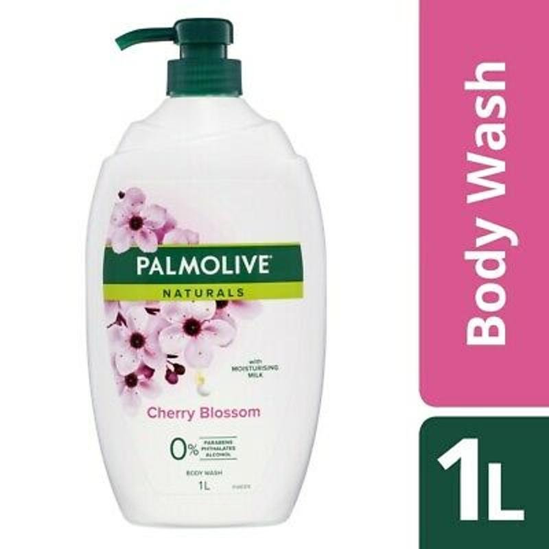 Sữa tắm Palmolive Naturals Body Wash 1 Litre Moisturising Milk - Cherry Blossom