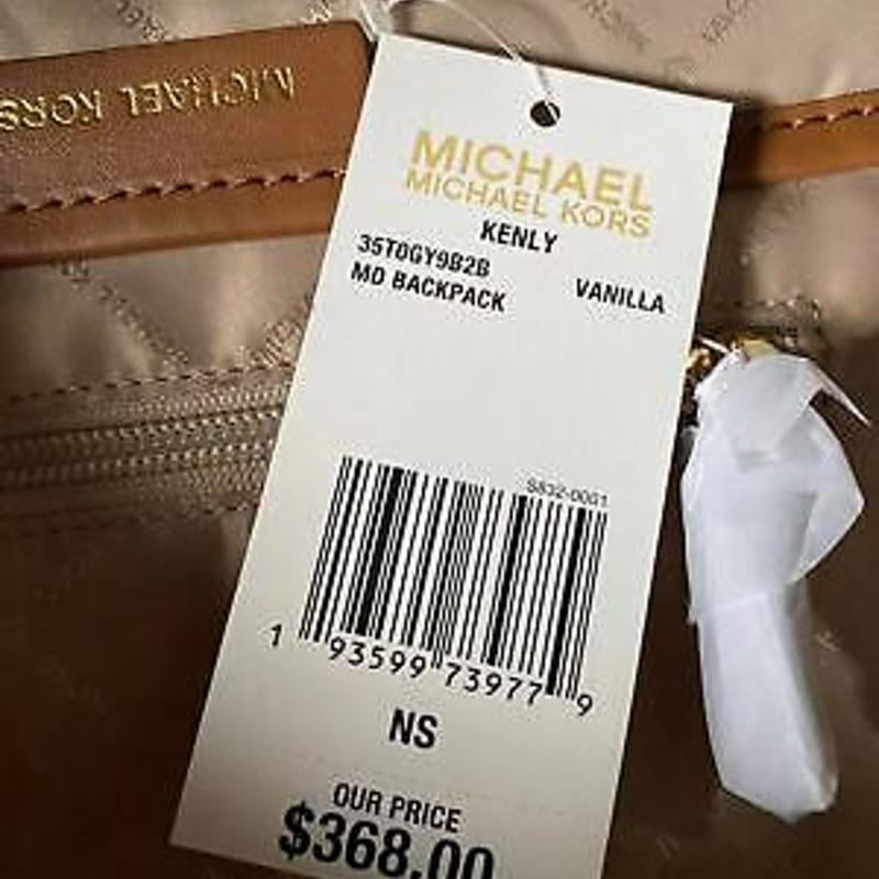Michael Kors Kenly Signature MK Medium PVC Leather Backpack Bag Handbag