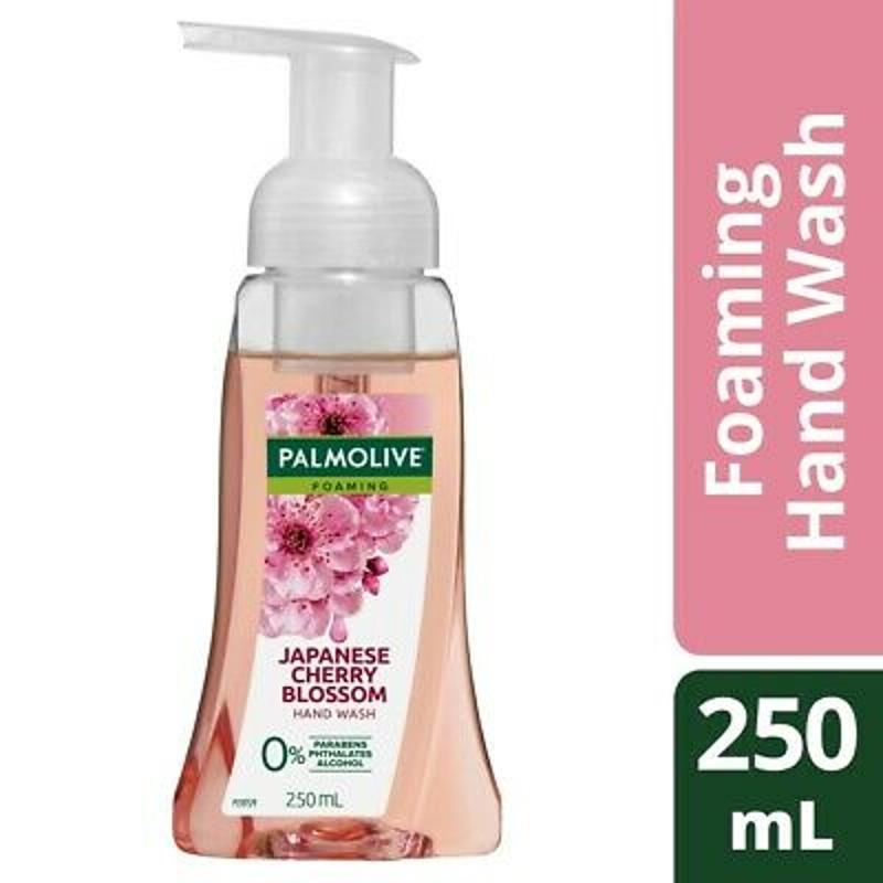 Nước rửa tay Palmolive Foaming Hand Wash Pump 250mL 0% Parabens - Japanese Cherry Blossom