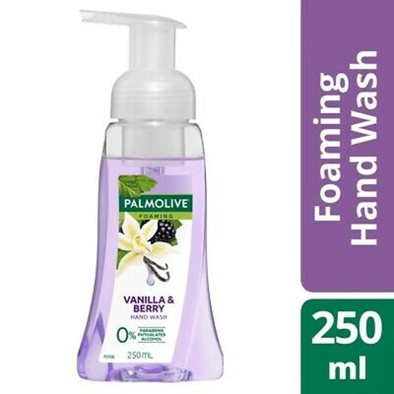 Nước rửa tay Palmolive Foaming Hand Wash Pump 250mL - Vanilla & Berry 0% Paraben pH Balanced