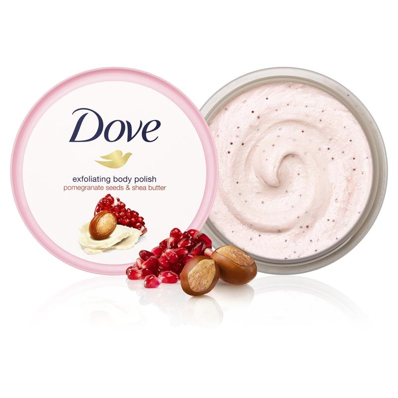 Tẩy tế bào chết - Dove Exfoliating Body Scrub Pomegranate Seeds & Shea Butter 225ml