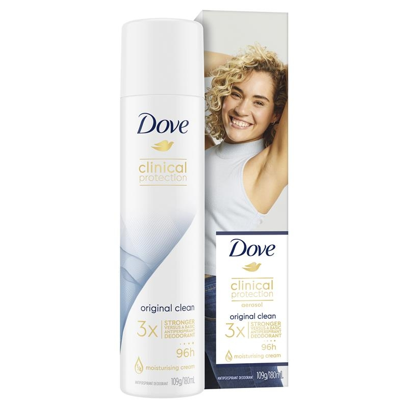 Khử mùi nữ - Dove for Women Clinical Protection Antiperspirant Original Clean 180ml