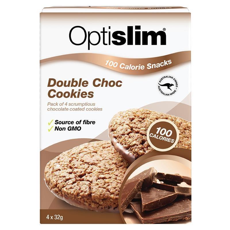 Bánh giảm cân - Optislim 100 Calorie Snack Double Choc 4 Cookies