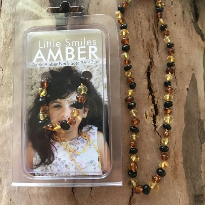 Dây chuyền hổ phách - Baltic Amber Teething Necklaces Children 36-47 cm