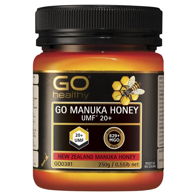 Mật ong - GO Healthy Manuka Honey UMF 20+ (MGO 820+) 250gm (Not For Sale In WA)