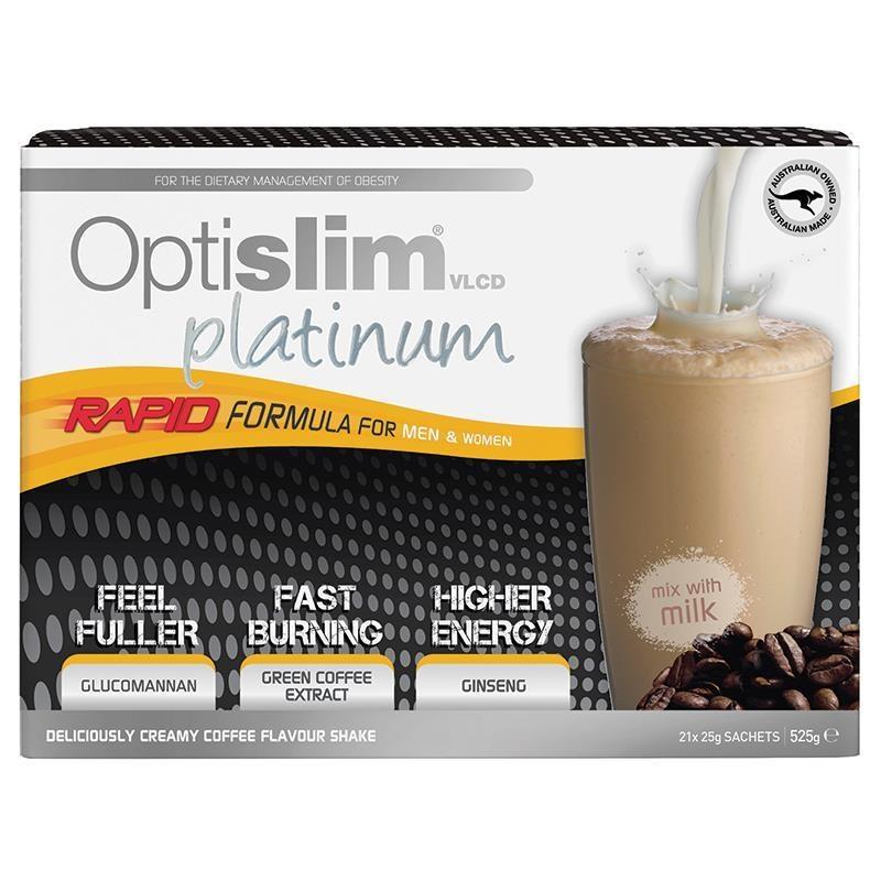 Optislim VLCD Platinum Coffee Shake 21x25g Sachets
