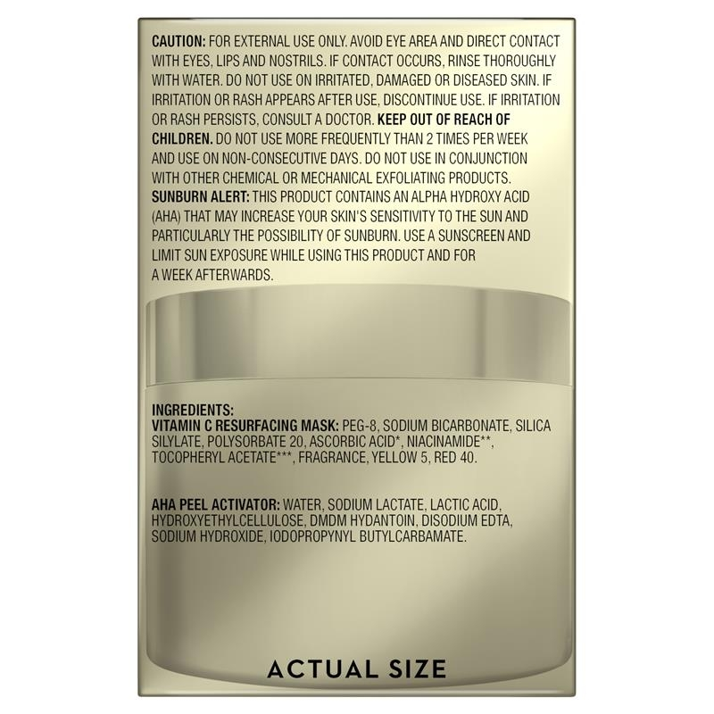 Mặt nạ tái tạo da vitamin C Olay Masks Vitamin C Resurfacing and AHA Peel Activator Duo Kit