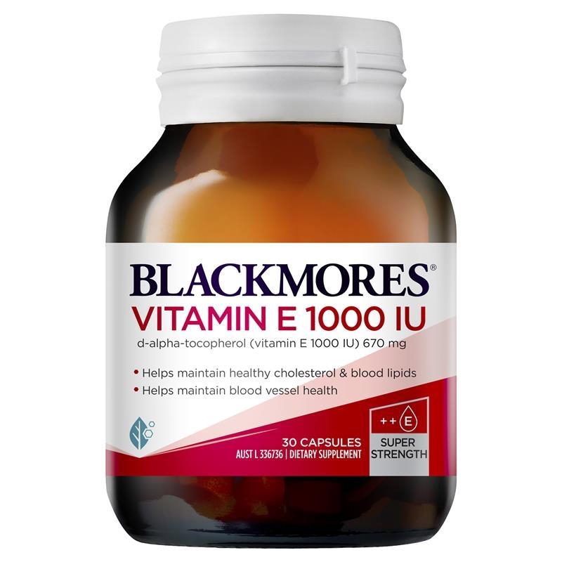 Viên uống bổ sung vitamin E - Blackmores Vitamin E 1000IU 30 Capsules