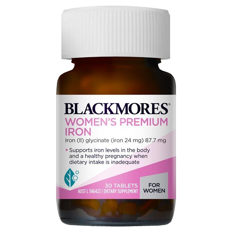 Viên uống bổ sung sắt -  Blackmores Womens Premium Iron 30 Tablets