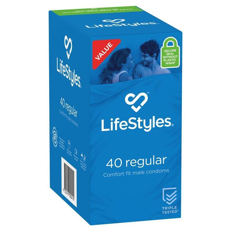 Bao cao su - LifeStyles Condoms Regular 40 Pack