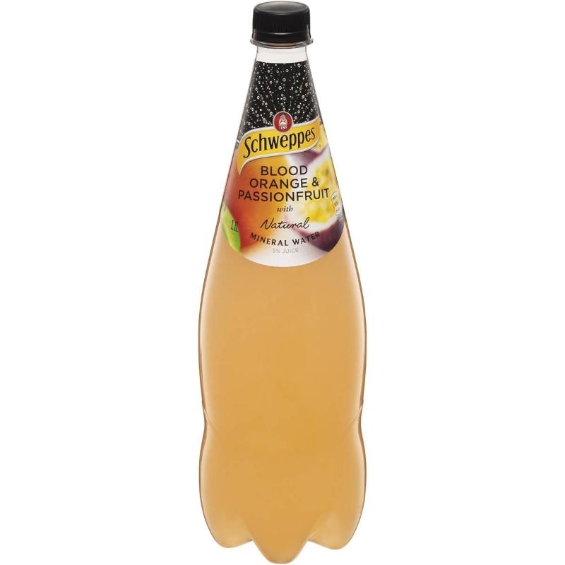 Nước khoáng thiên nhiên Schweppes Blood Orange & Passionfruit 1.1l