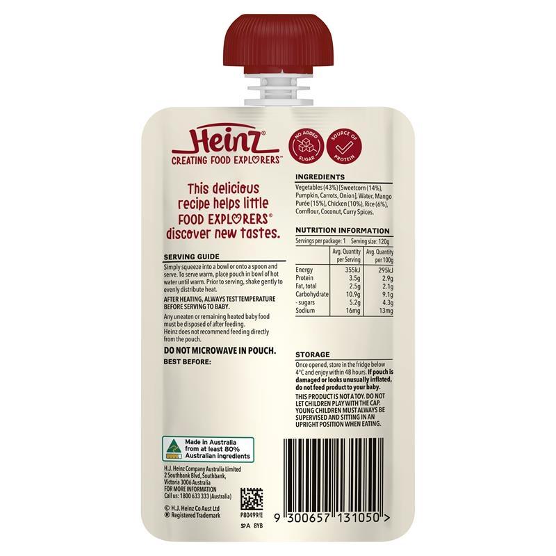 Váng sữa - Heinz Chicken Sweetcorn & Mango Pouch 120g 6m+