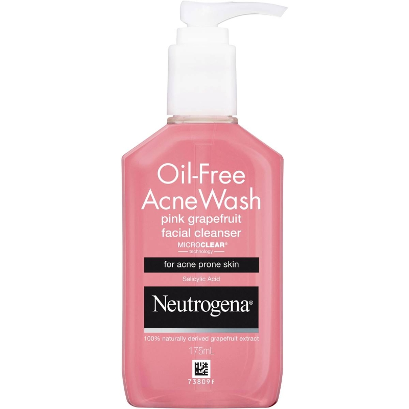 Neutrogena Oil Free Acne Pink Grapefruit Cleanser 175ml