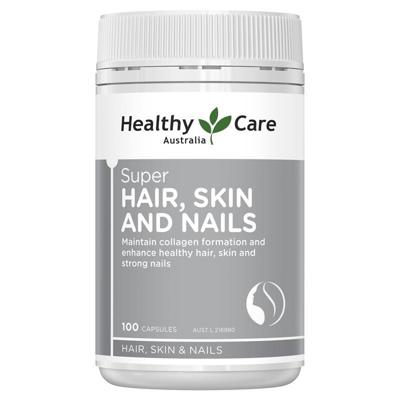 Healthy Care Super Hair Skin & Nails 100 Capsules