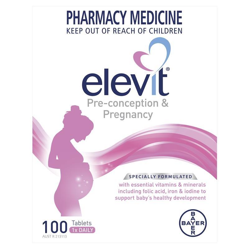 Viên uống tổng hợp cho bà bầu Elevit Pregnancy Multivitamin Tablets 100 Pack (100 Days)