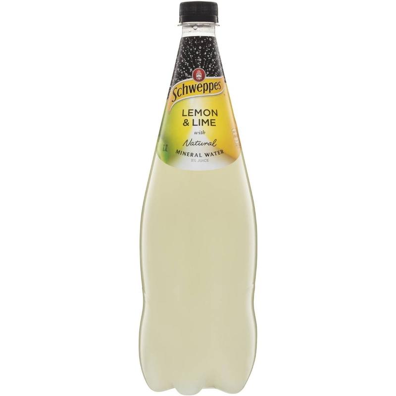 Schweppes Natural Mineral Water Lemon & Lime 1.1l