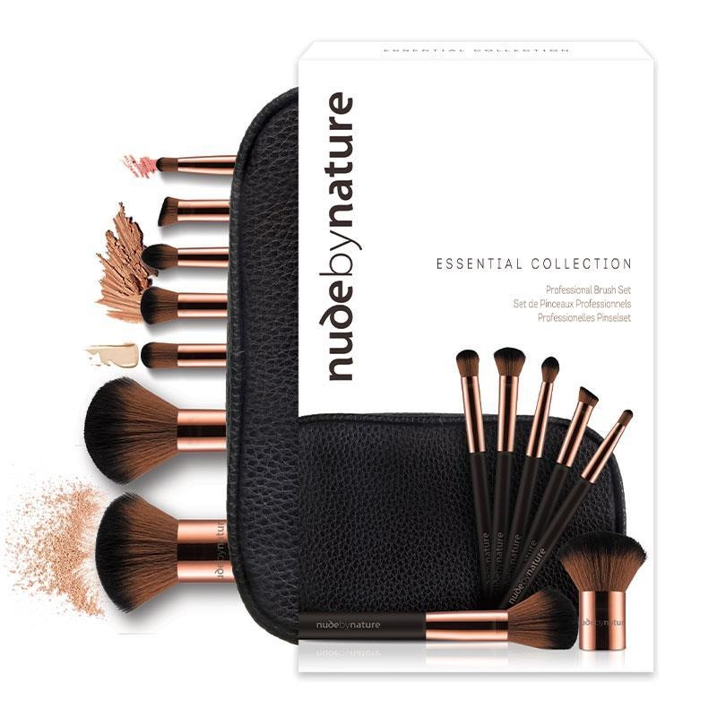 Bộ cọ trang điểm 7 món Nude by Nature Essential Collection 7 Piece Brush