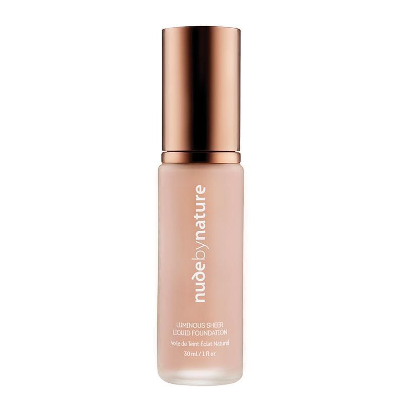 Kem nền Nude by Nature Luminous Sheer Liquid Foundation W1 Rose Beige 30ml
