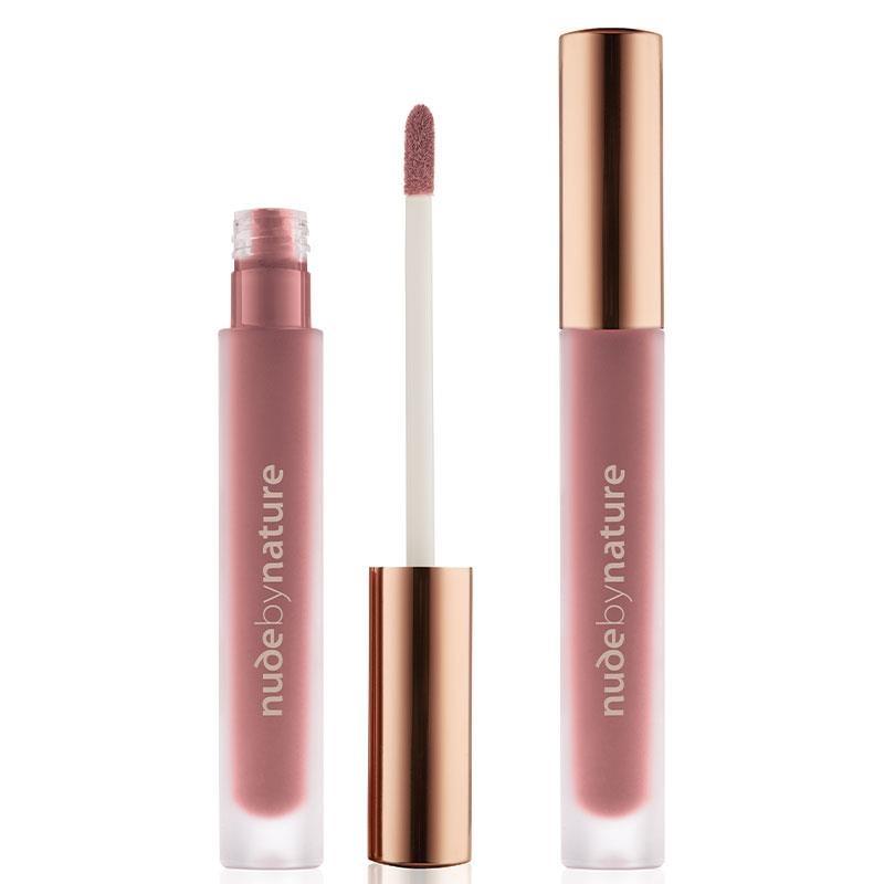 Son môi Nude by Nature Satin Liquid Lipstick 04 Soft Petal
