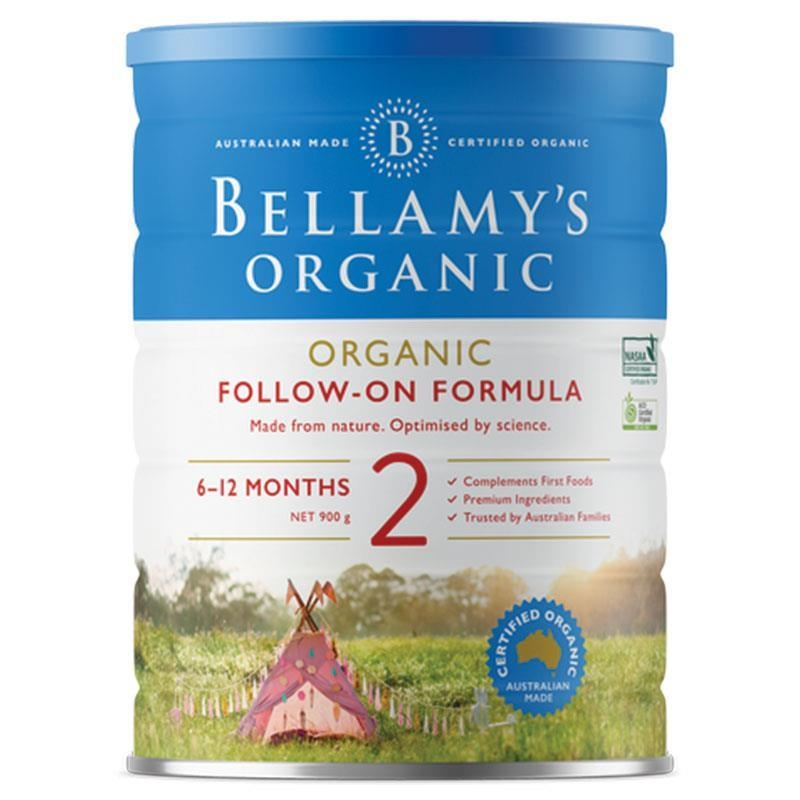 Sữa bột cho bé từ 6 -12 tháng Bellamy's Organic Follow On Formula Step 2 900g
