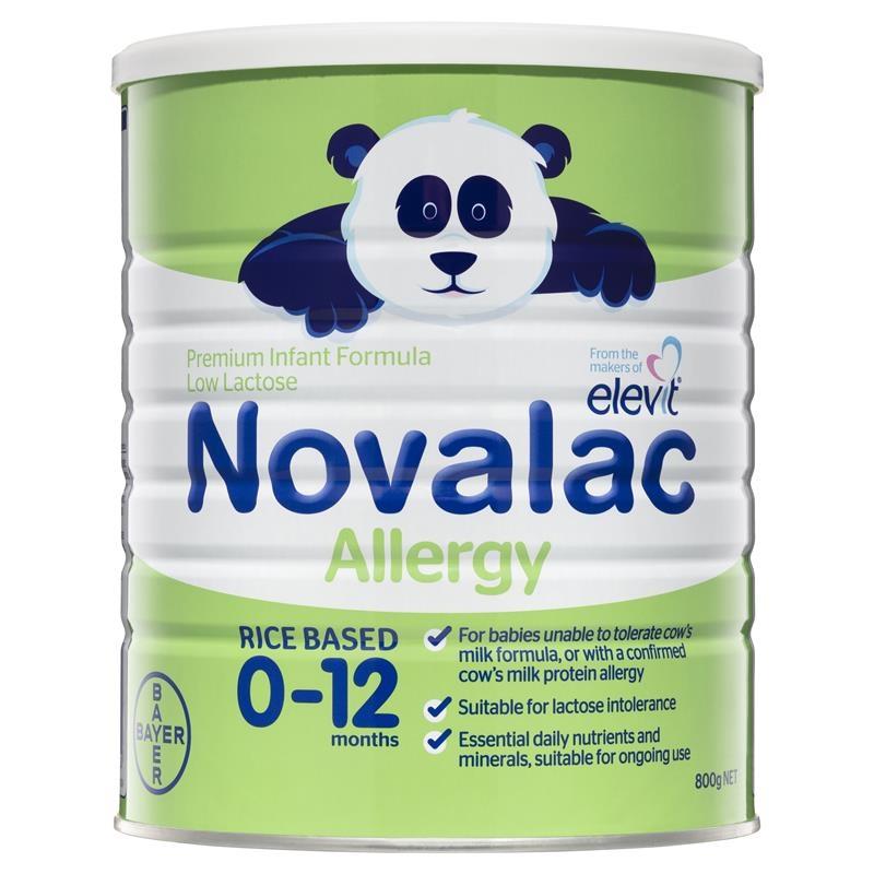 Sữa bột cho bé từ 0 -12 tháng Novalac Allergy Premium Infant Formula 800g
