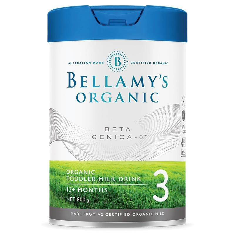 "Sữa bột cho trẻ từ 1 tuổi Bellamy's Beta Genica-8"" Step 3 Toddler Milk Drink 800g"