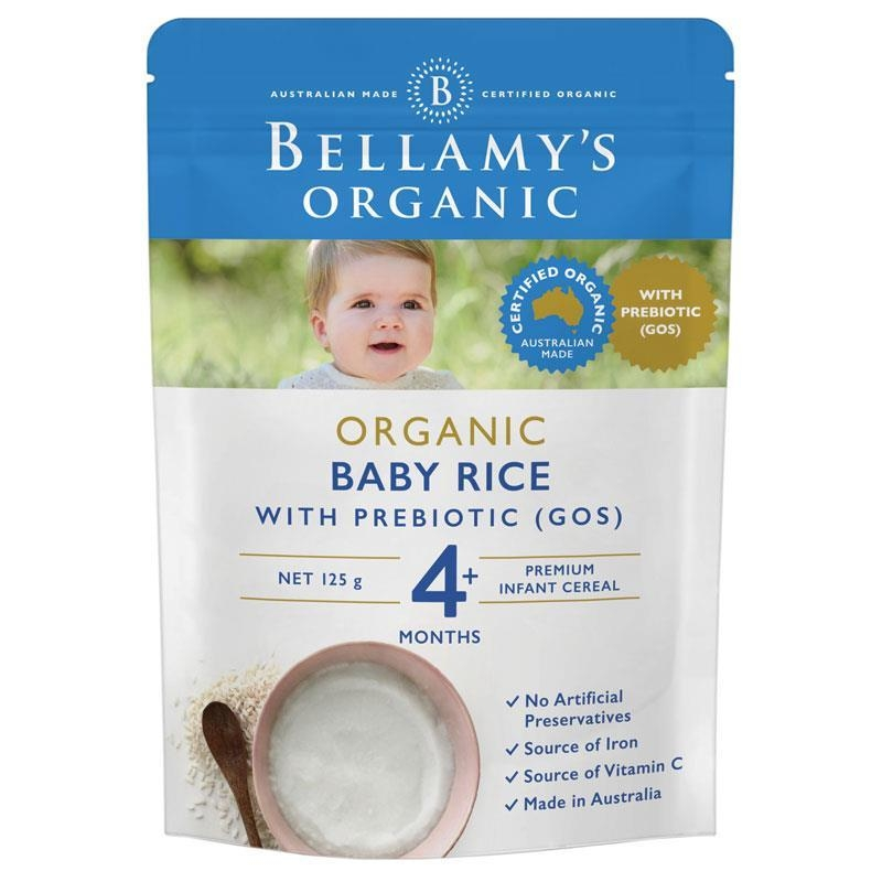 Thức ăn dặm Bellamy's Organic Baby Rice with Prebiotic 125g