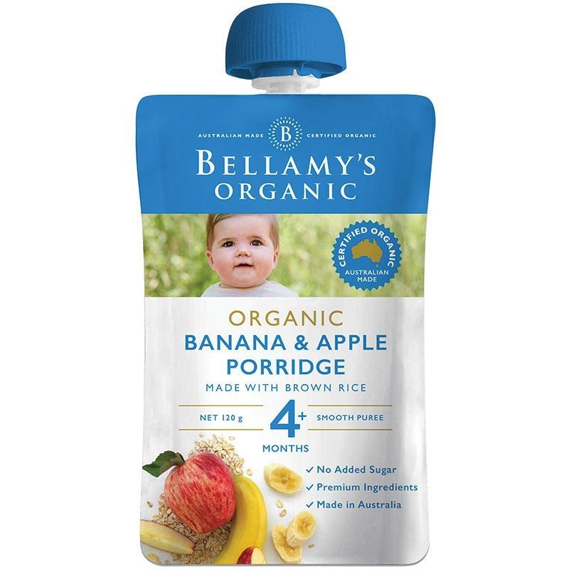 Bột ăn dặm Bellamy's Organic Banana Apple Porridge 120g