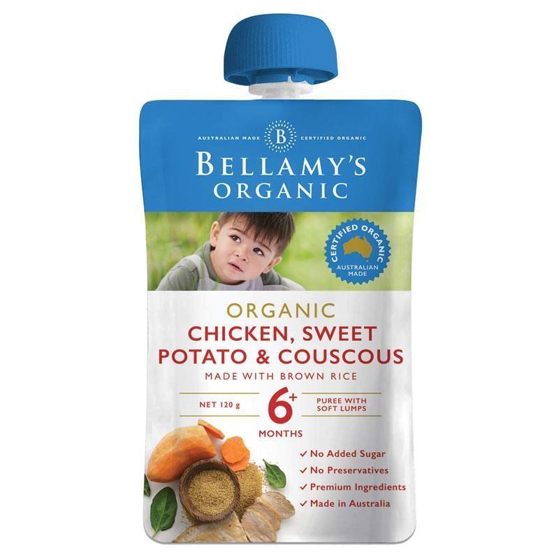 Thức ăn dặm Bellamy's Organic Chicken Sweet Potato & Cous Cous 120g