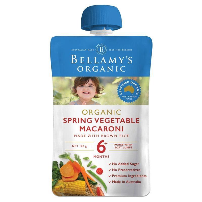Bột ăn dặm Bellamy's Organic Spring Vegetable Macaroni 120g