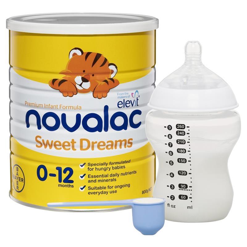 ữa bột cho bé từ 0 -12 tháng Novalac SD Sweet Dreams Infant Formula 800g