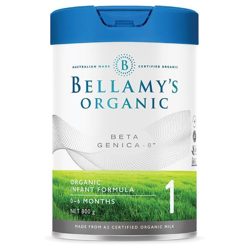 "Sữa bột cho trẻ từ 0 - 6 tháng Bellamy's Beta Genica-8"" Step 1 Infant Formula 800g"
