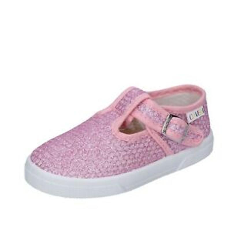 Giày bé gái - Girl's Shoes ENRICO COVERI 29 Eu Sneakers Pink Fabric BN685-29