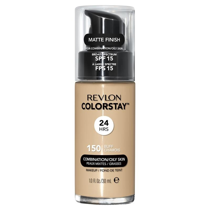 Phấn phủ Revlon ColorStay Makeup with Time Release Technology for Combination/Oily Buff Foundation