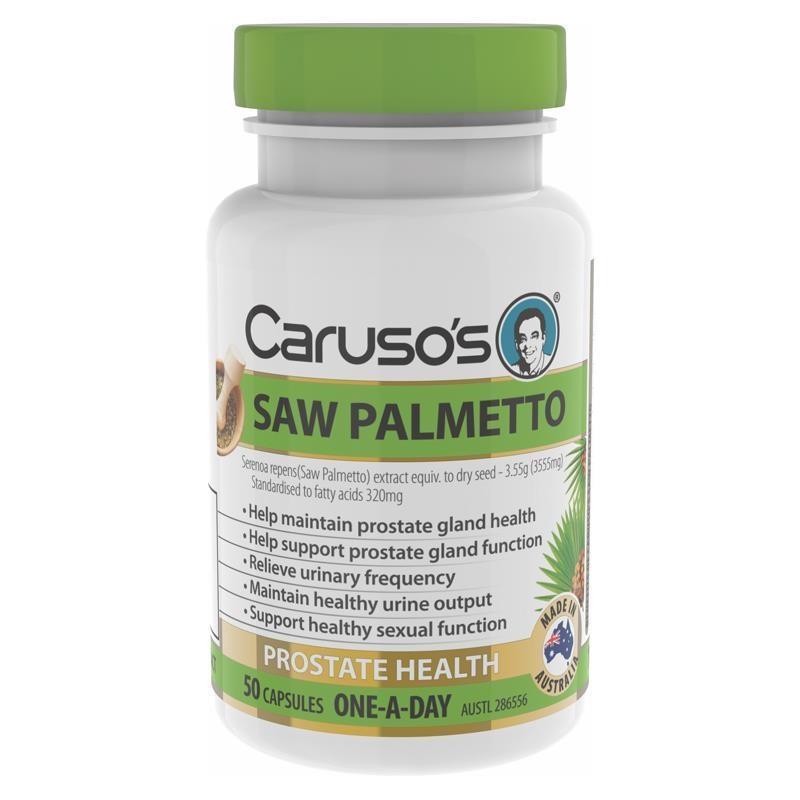 Viên uống hỗ trợ sức khỏe tuyến tiền liệt Carusos Natural Health One a Day Saw Palmetto 50 Capsules