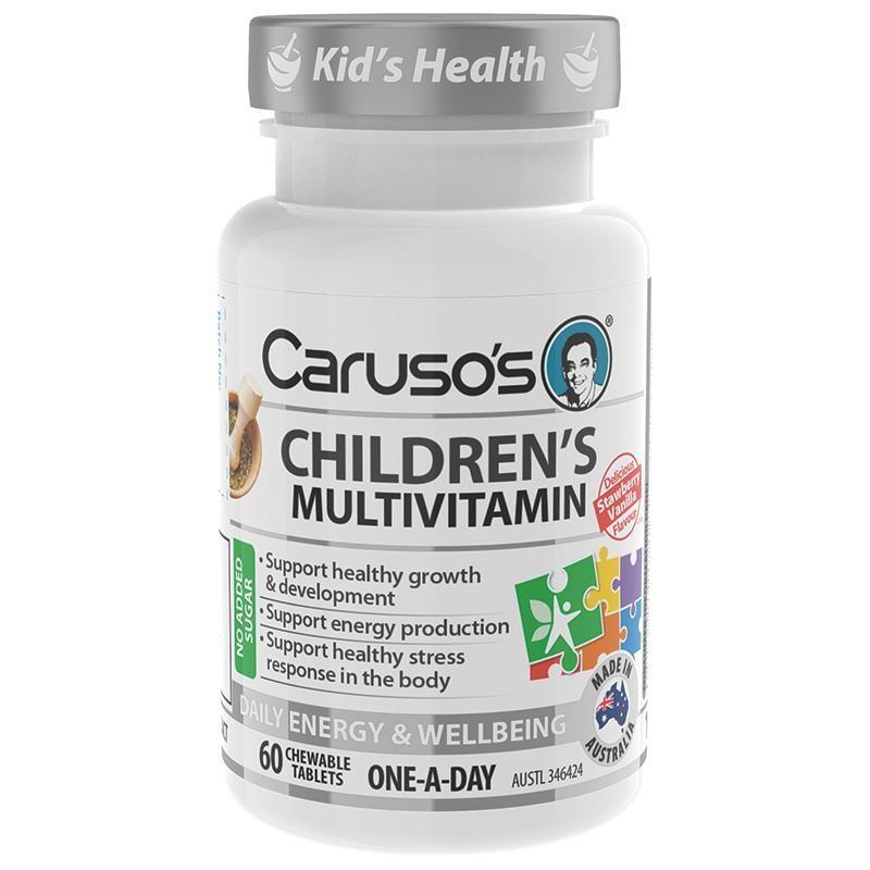 Viên nhai bổ sung vitamin Caruso's Childrens Super Multi 60 Tablets