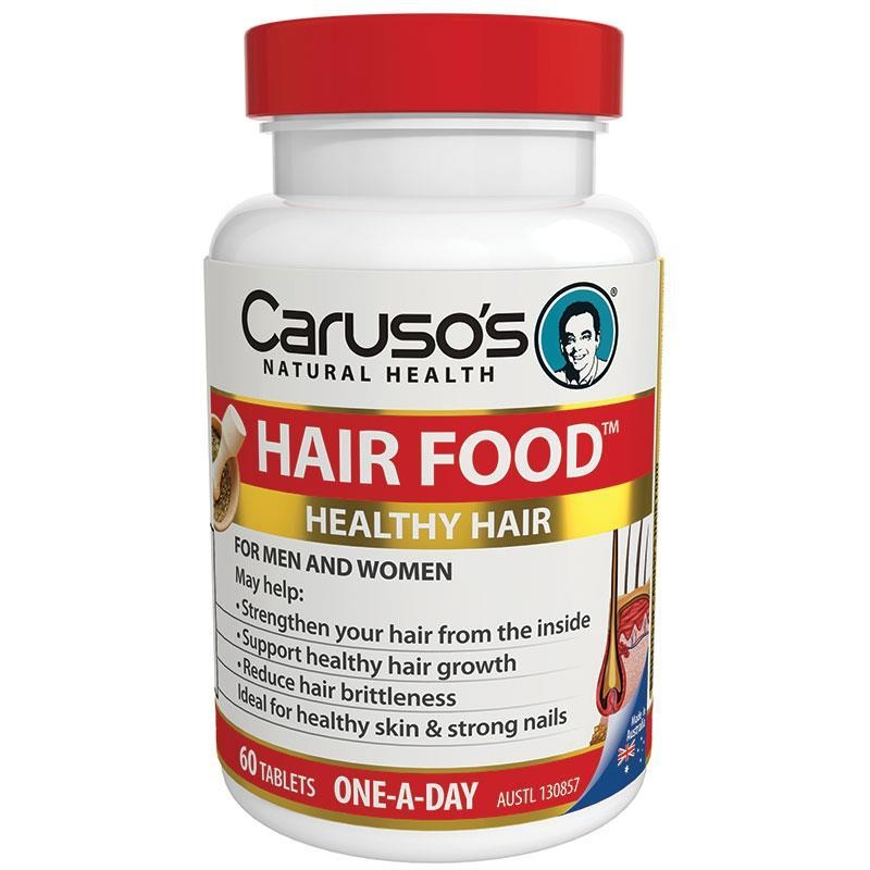 Viên uống chăm sóc tóc, da, móng Carusos Natural Health Figaro Hair Food Plus 60 Tablets