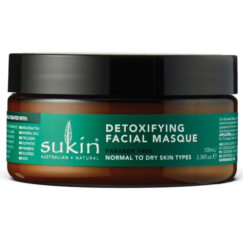 Mặt nạ đất sét Sukin Super Greens Detoxifying Masque 100ml