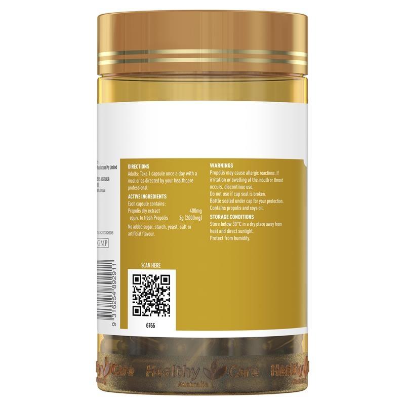 Viên uống keo ong Healthy Care Propolis 2000mg 200 Capsules