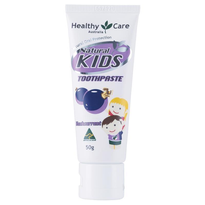 Kem đánh răng Healthy Care Natural Kids Toothpaste Blackcurrant Flavour 50g