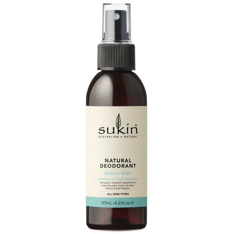 Xịt khủ mùi Sukin Natural Deodorant Ocean Mist 125ml