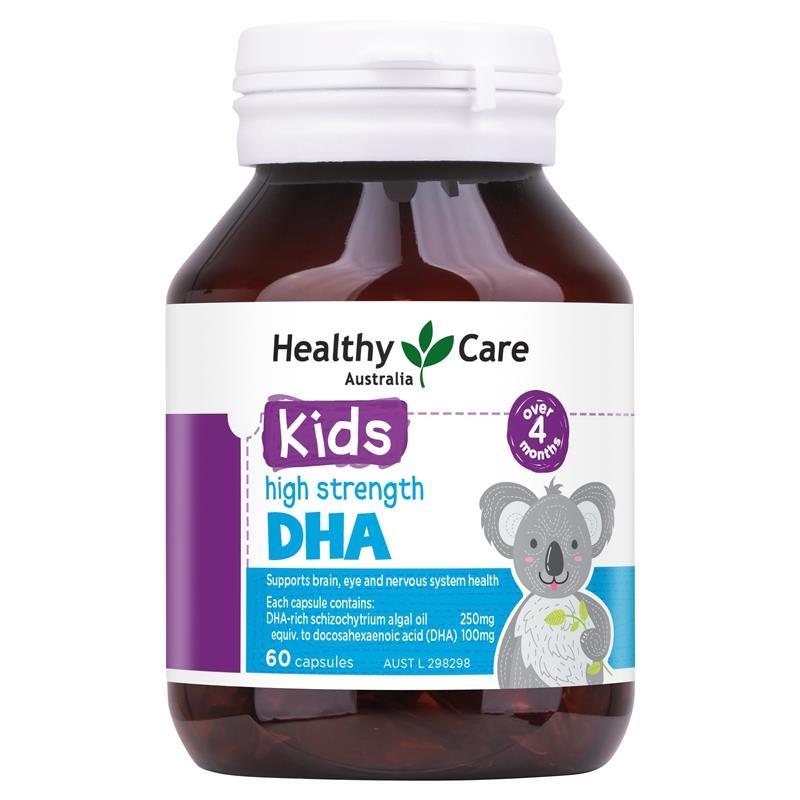 Viên uống bổ sung DHA cho bé Healthy Care Kids DHA 60 Capsules