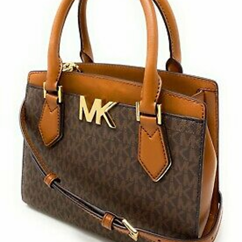 Michael Kors Mott Medium Messenger Leather Satchel Crossbody Bag